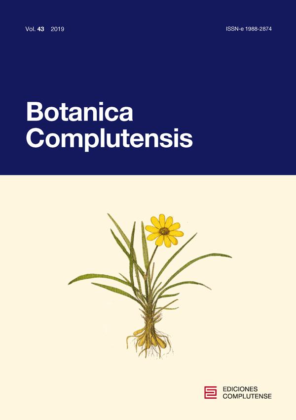 Cubierta de Botanica Complutensis Vol. 43 (2019)