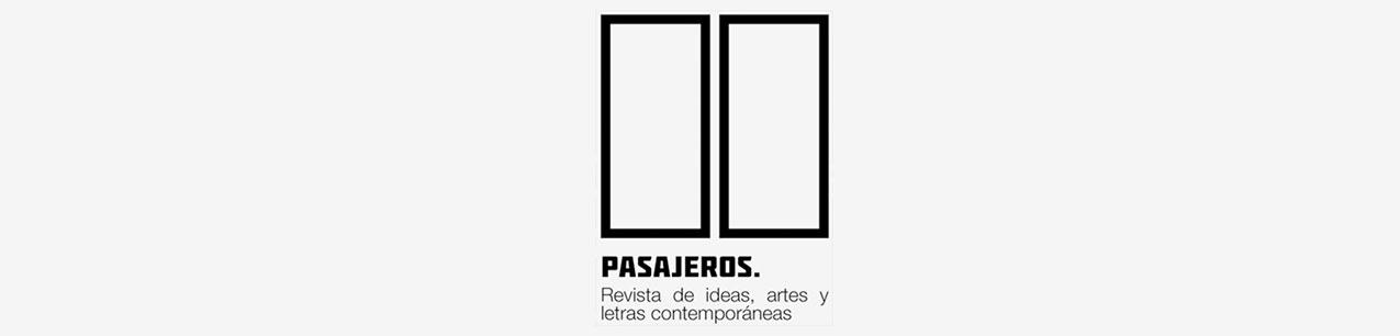 Portada de revista Pasajeros. Revista de ideas, artes y letras contemporáneas