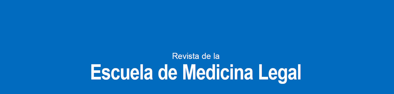 Portada de Revista de la Escuela de Medicina Legal. Universidad Complutense de Madrid