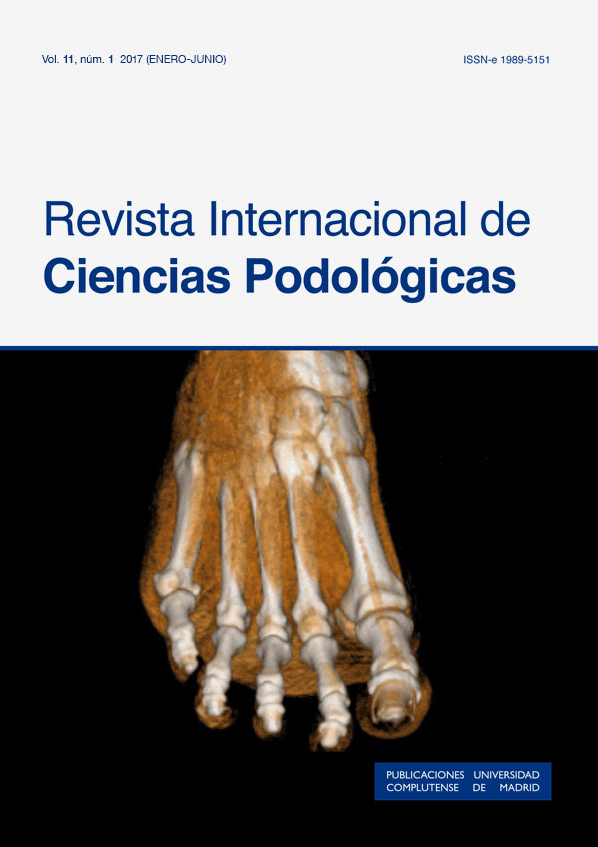 Cubierta de Revista Internacional de Ciencias Podológicas Vol. 11, Núm. 1 (2017)