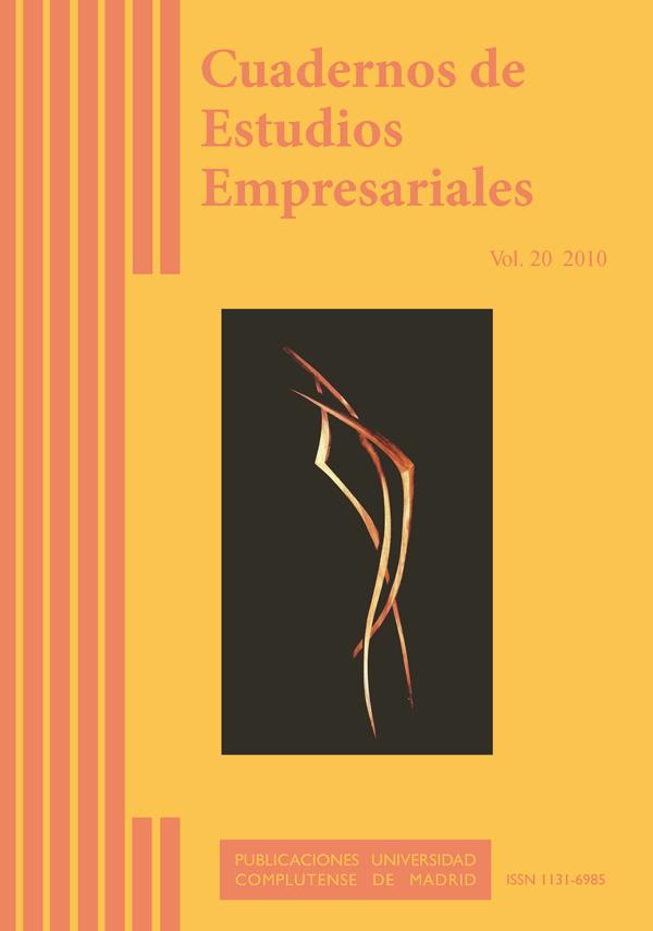 cubierta Cuadernos de Estudios Empresariales vol 20