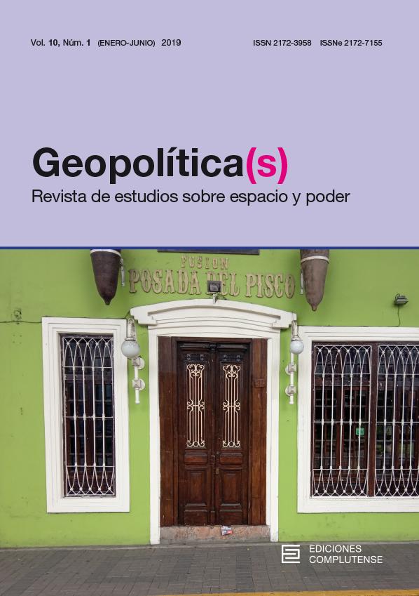 Cubierta de Geopolitica(s) Vol 10, No 1 (2019)