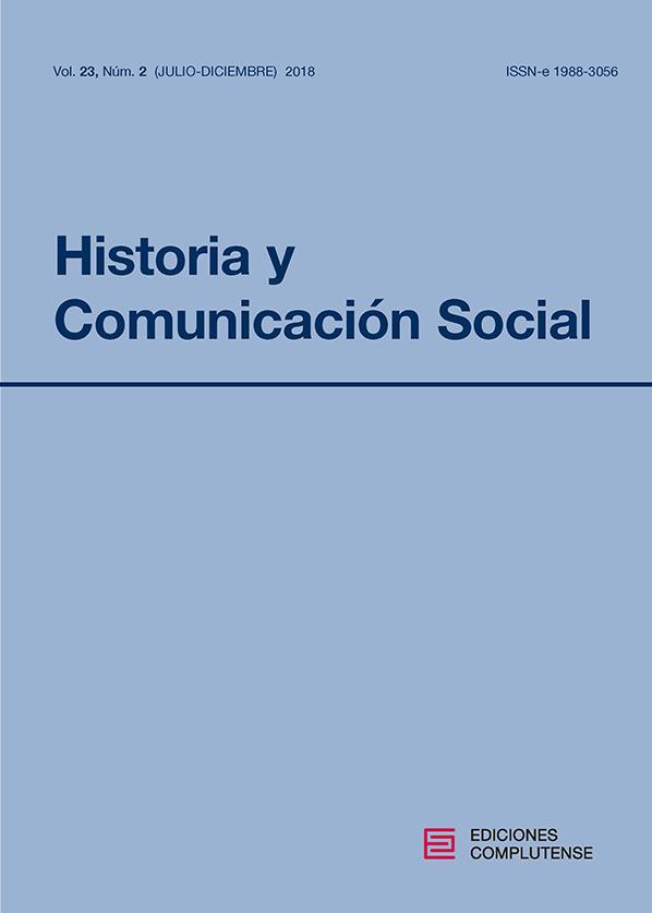 Cubierta Historia y Comunicación Social vol 23-2 (2018)