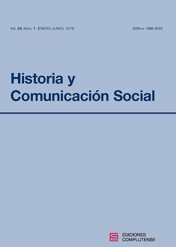 Cubierta Historia y Comunicación Social vol 24-1 (2019)