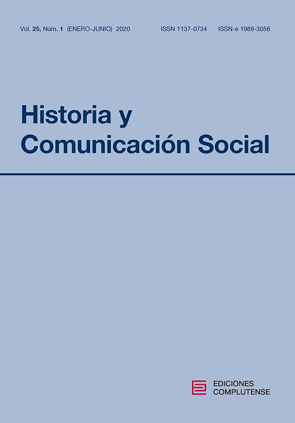 cubierta Historia y Comunicación Social 25-1 (2020)