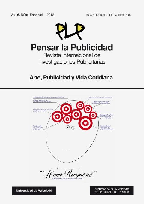 Cubierta Pensar la Publicidad Vol 6 (2012): Núm. Especial: Arte, Publicidad y Vida Cotidiana