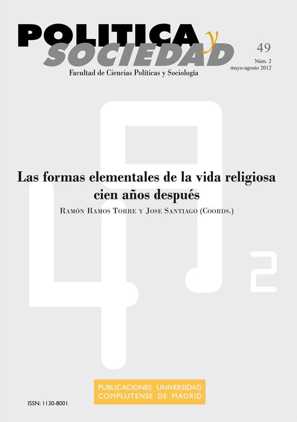 Cubierta Política y Sociedad Vol 49, No 2 (2012): Las formas elementales de la vida religiosa cien años después