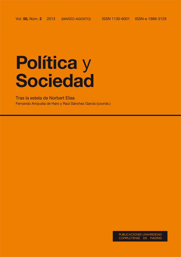 Cubierta Política y Sociedad Vol. 50, Núm. 2. Monográfico: Tras la estela de Norbert Elias