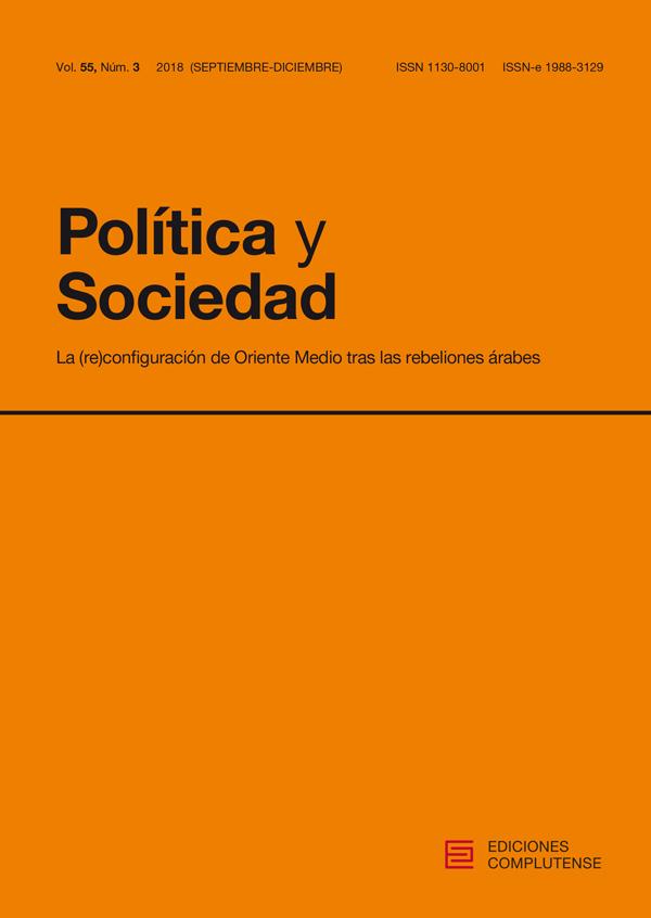 Cubierta de Política y Sociedad Vol 55, No 3 (2018):La (re)configuración de Oriente Medio tras las rebeliones árabesa