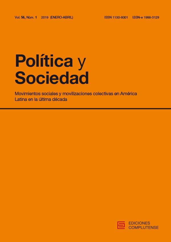 Cubierta de Política y Sociedad Vol. 56, núm. 1 (2019) Movimientos sociales y movilizaciones colectivas en América Latina en la última década