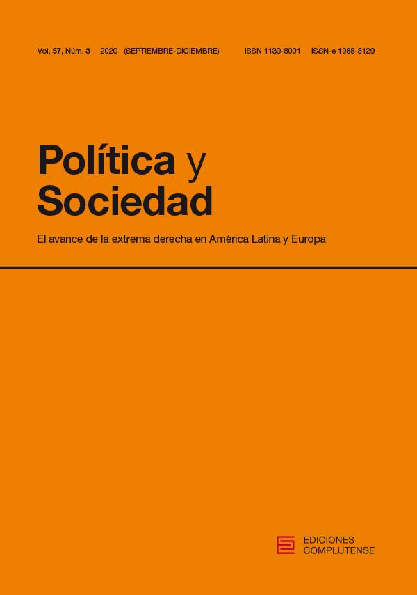 Cubierta de Política y Sociedad Vol. 57, Núm. 3 (2020)  Monográfico: el avance de la extrema derecha en América Latina y Europa
