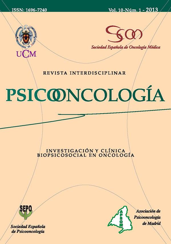 cubierta Psicooncología vol 10-1 (2013)