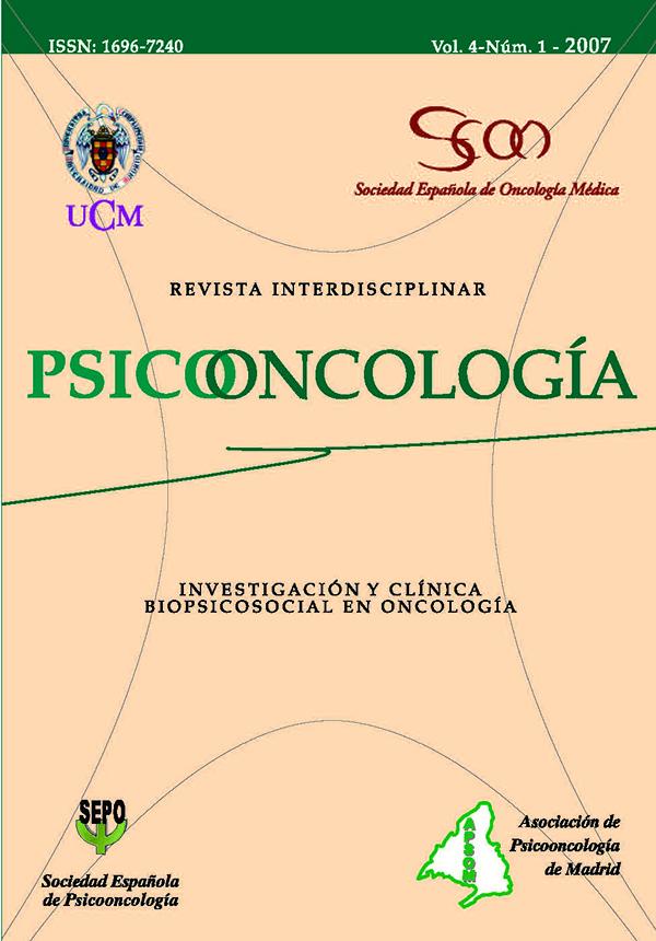 cubierta Psicooncología vol 4-1 (2007)