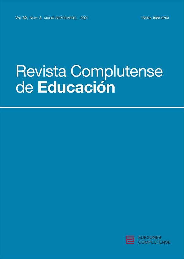 Cubierta de Revista Complutense de Educación Vol. 32 Núm. 3 (2021)