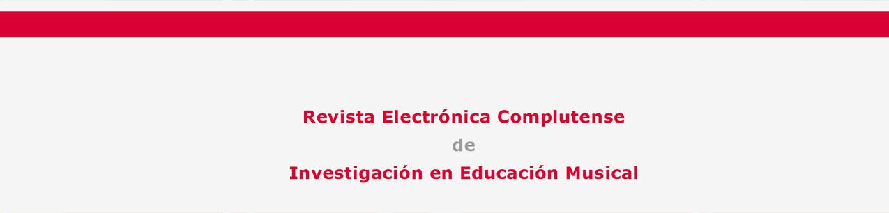 Portada de Revista Electrónica Complutense de Investigación en Educación Musical - RECIEM