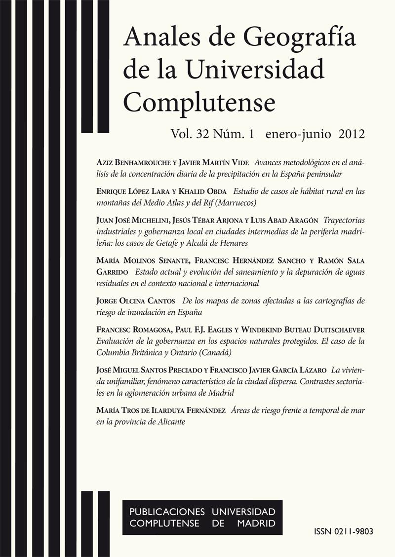 Anales de Geografía de la Universidad Complutense Vol. 32, Núm. 1 (2012)