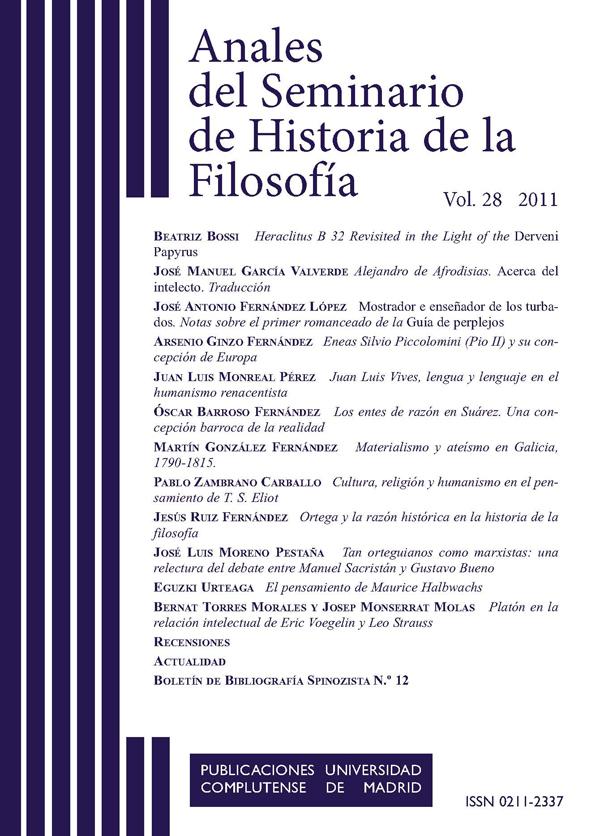 Portada Anales del Seminario de Historia de la Filosofía