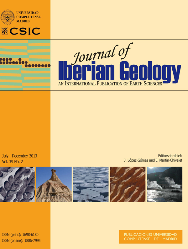 Cover Journal of Iberian Geology 39-2 (2013)