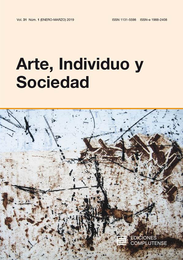 Cubierta Arte, Individuo y Sociedad Vol 31, No 1 (2019)