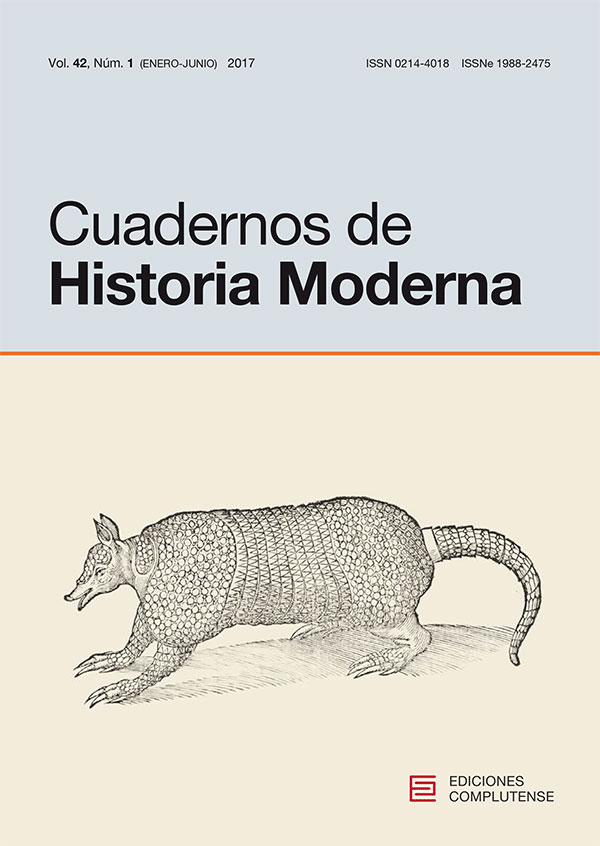 Cubierta de Cuadernos de Historia Moderna Vol. 42, Núm. 1 (2017)