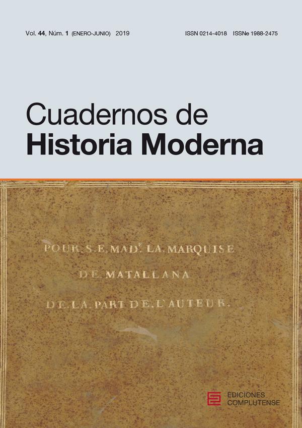 Cubierta de Cuadernos de Historia Moderna Vol. 44, Núm. 1