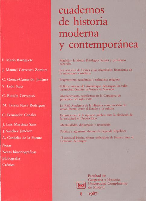 Portada de Cuadernos de Historia Moderna y Contemporánea