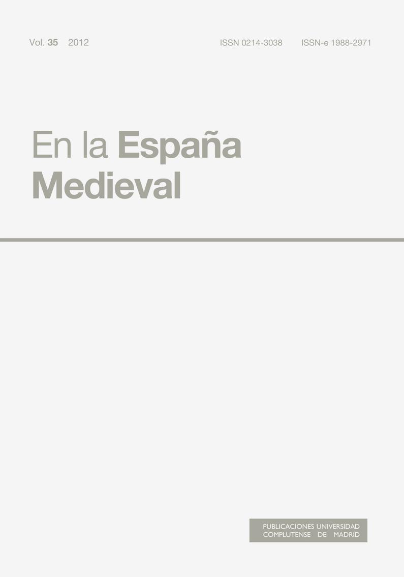 Cubierta En la España Medieval Vol. 35 (2012)