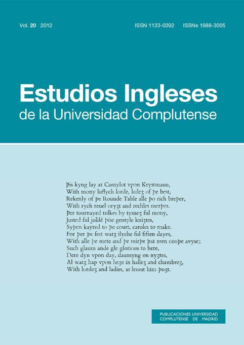Cubierta Estudios Ingleses vol 20 (2012)