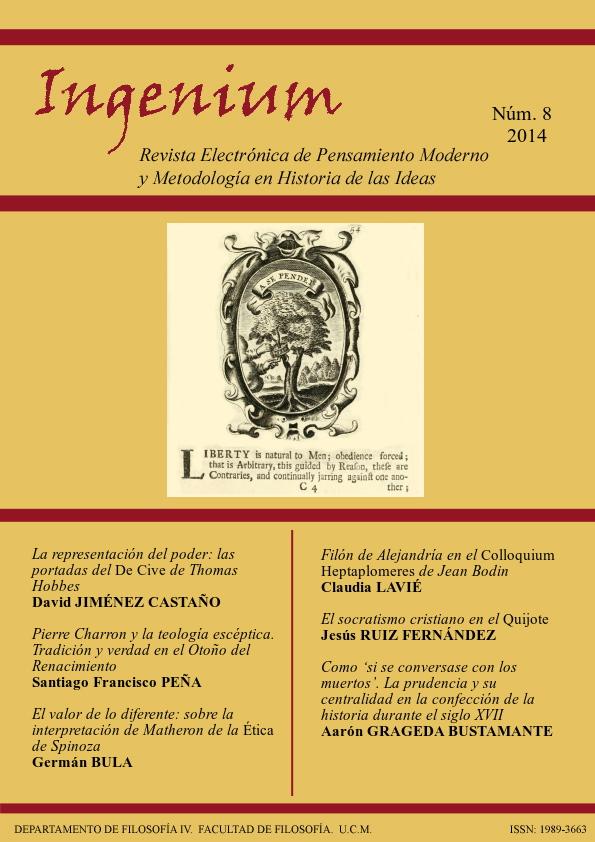 Cubierta de Ingenium. Revista Electrónica de Pensamiento Moderno y Metodología en Historia de la Ideas Vol. 8
