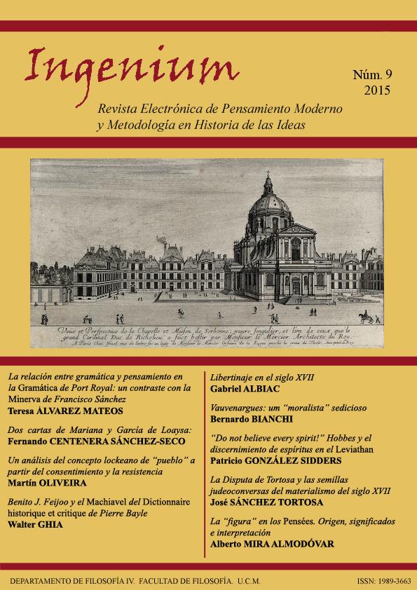 Cubierta de Ingenium. Revista Electrónica de Pensamiento Moderno y Metodología en Historia de la Ideas Vol. 9