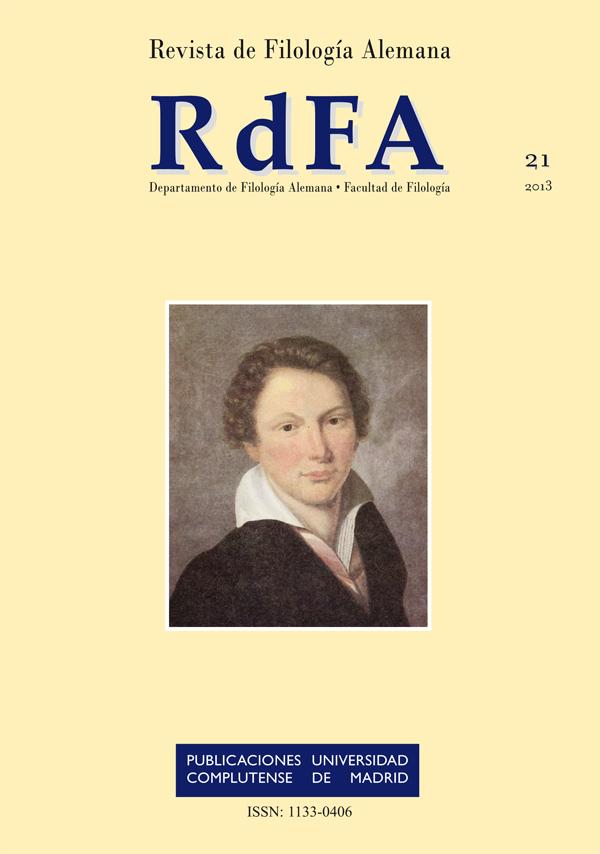 Cubierta Revista de Filología Alemana Vol. 21