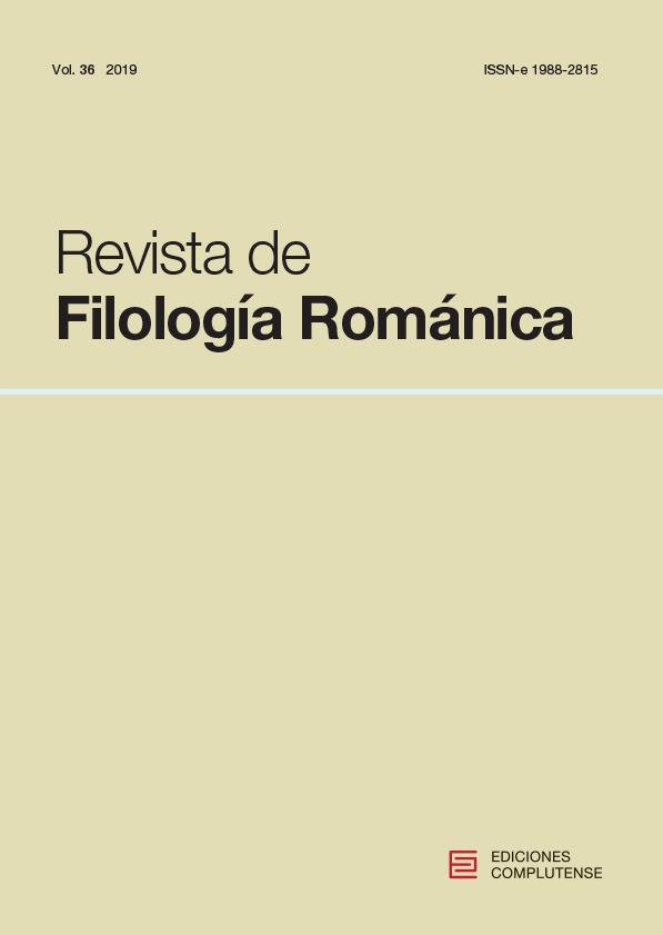 Cubierta de Revista de Filología Románica Vol. 36 (2019)