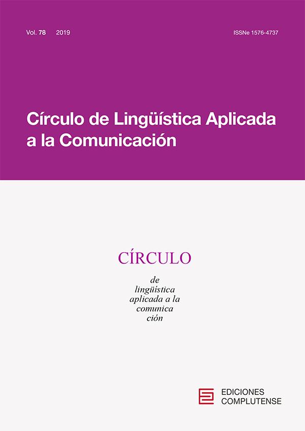 Cubierta Círculo de Lingüística Aplicada a la Comunicación vol 78 (2019)