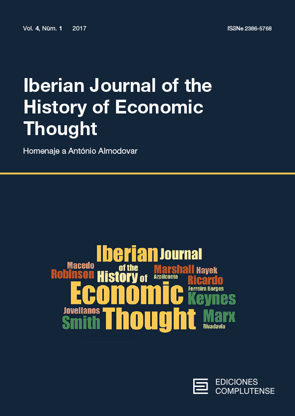 Cover Iberian Journal of the History of Economic Thought vol. 4 (1)