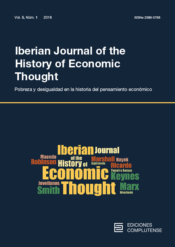 Cover Iberian Journal of the History of Economic Thought vol. 5 (1)
