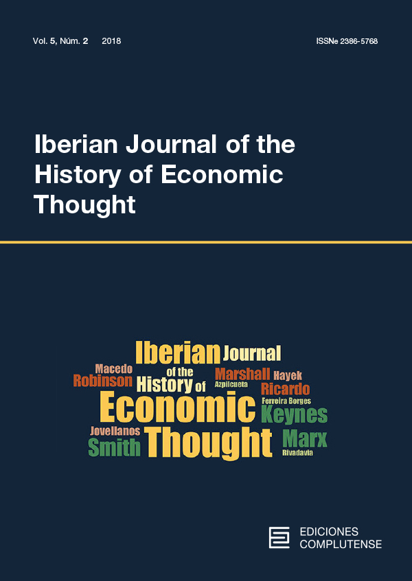 Cover Iberian Journal of the History of Economic Thought vol. 5 (2)