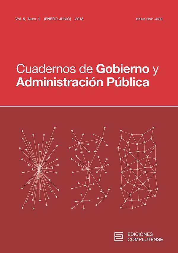 Cubierta Cuadernos de Gobierno y Administración Pública vol 5, nº1 (2018)