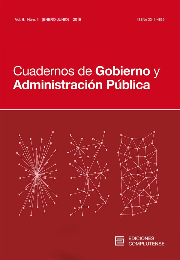 Cubierta Cuadernos de Gobierno y Administración Pública 6 (1) 2019