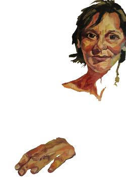 Retrato al óleo de Carolina Bescansa por Carla Cañellas Peña