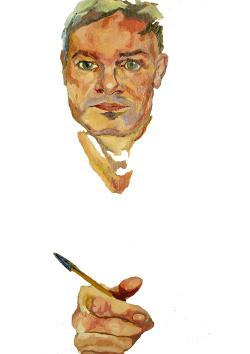 Retrato al óleo de Germán Cano por Carla Cañellas Peña
