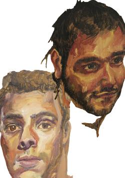 Retratos al óleo de Miguel Ardanuy y Eric Labuske por Carla Cañellas Peña